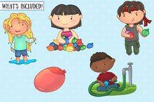 Load image into Gallery viewer, Water Balloon Fight Clip Art Collection