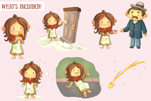 Load image into Gallery viewer, Little Matchstick Girl Clip Art Collection