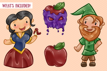 Load image into Gallery viewer, Snow White Clip Art Collection