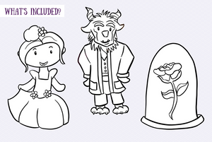 Beauty and the Beast Digital Stamps