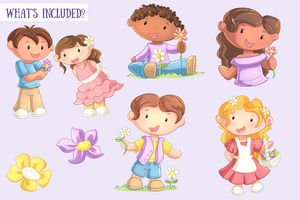 May Flowers Clip Art Collection