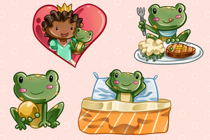 Princess and the Frog Clip Art Collection