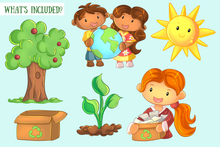 Load image into Gallery viewer, Earth Day Clip Art Collection