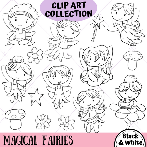 Fairies Digital Stamps