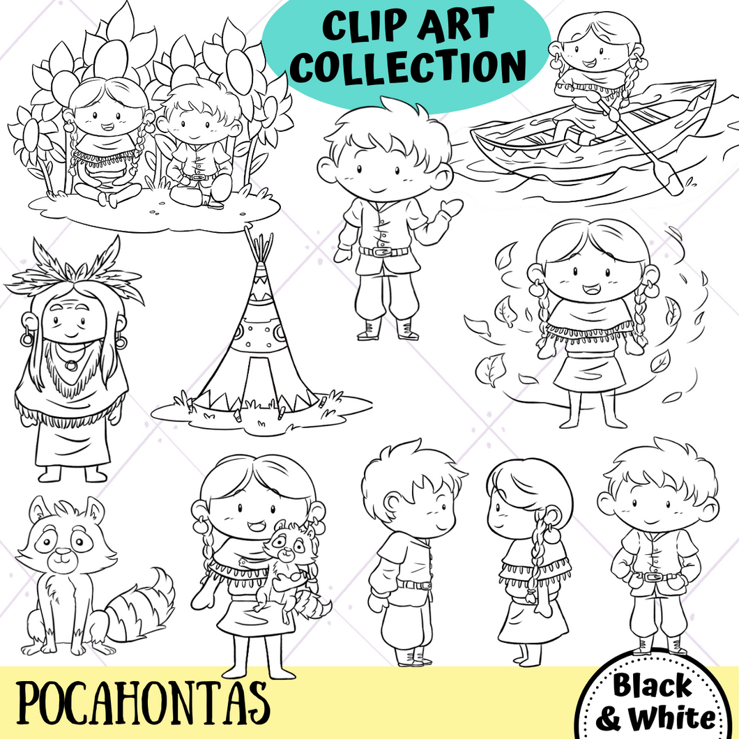 Pocahontas Digital Stamps