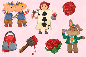 Alice In Wonderland Clip Art Collection