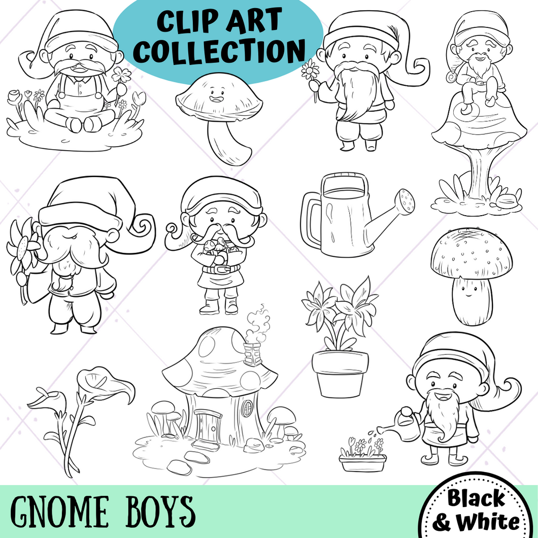 Gnome Boys Digital Stamps