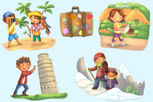 Load image into Gallery viewer, World Travel Clip Art Collection
