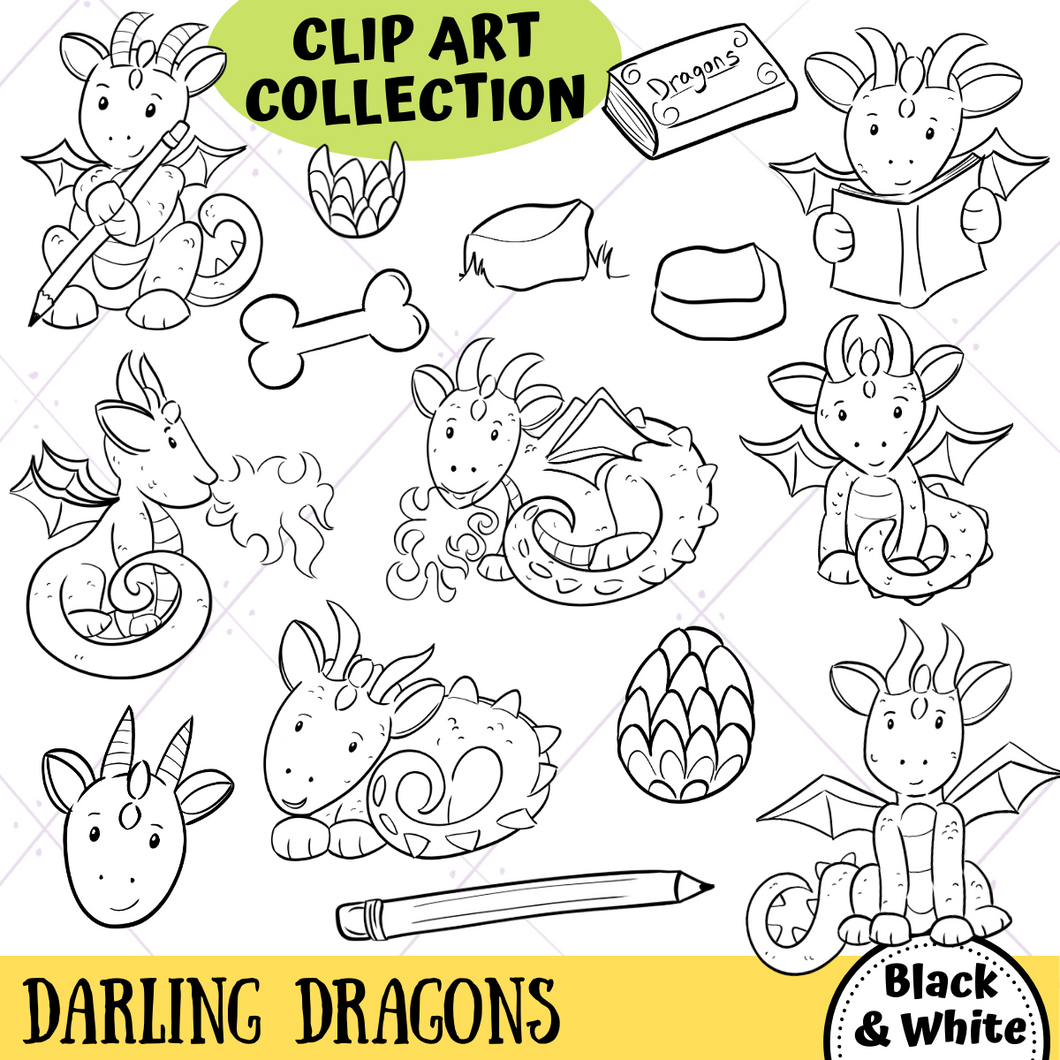 Dragons Digital Stamps