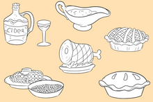 Load image into Gallery viewer, Thanksgiving Feast Digital Stamps