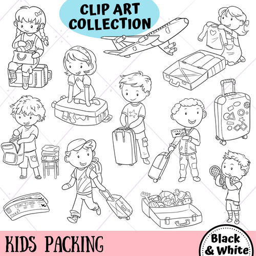 Kids Packing Digital Stamps