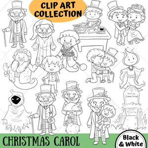 Christmas Carol Digital Stamps