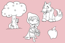 Load image into Gallery viewer, Little Red Riding Hood Digital Stamps