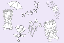 Load image into Gallery viewer, May Flowers Digital Stamps