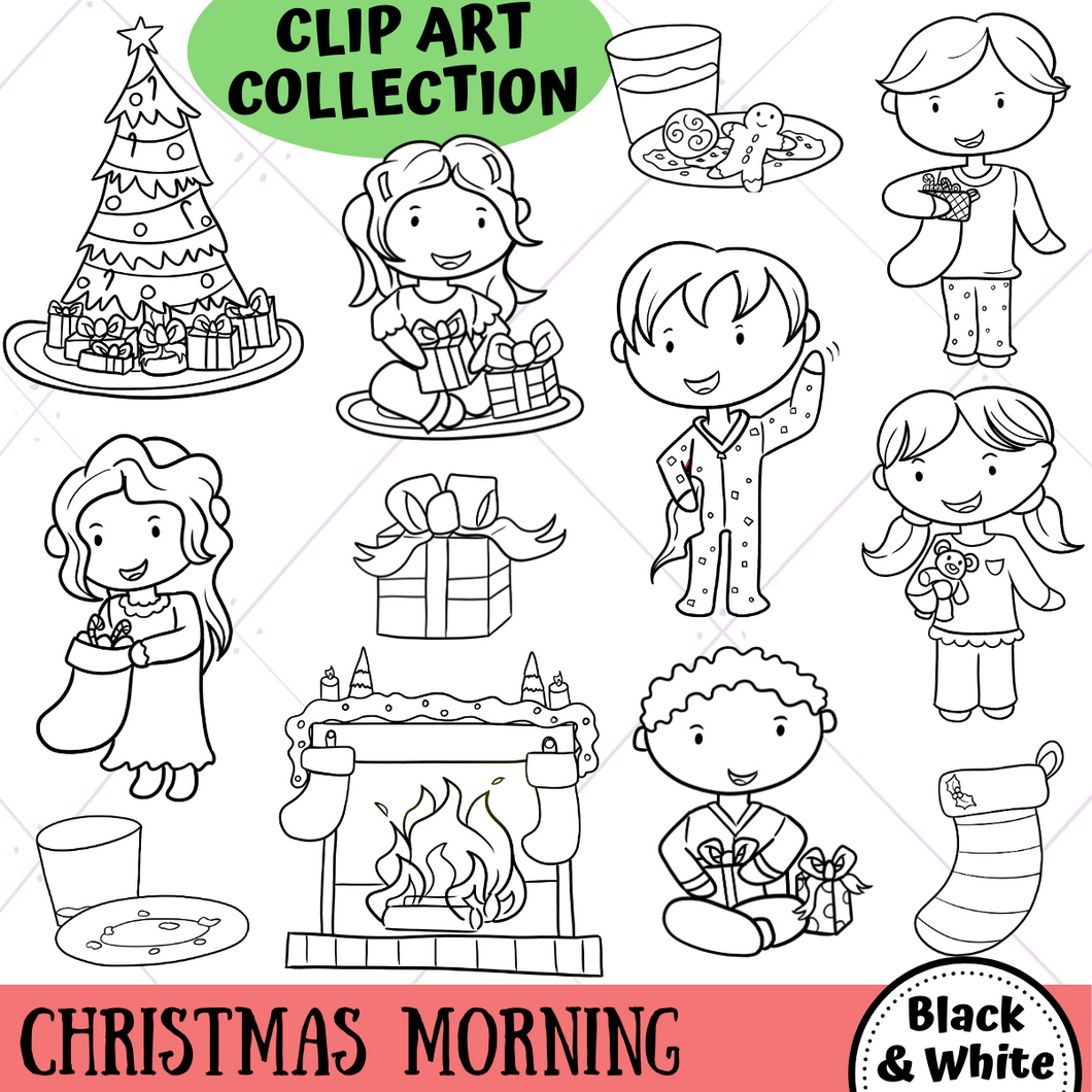 Christmas Morning Digital Stamps