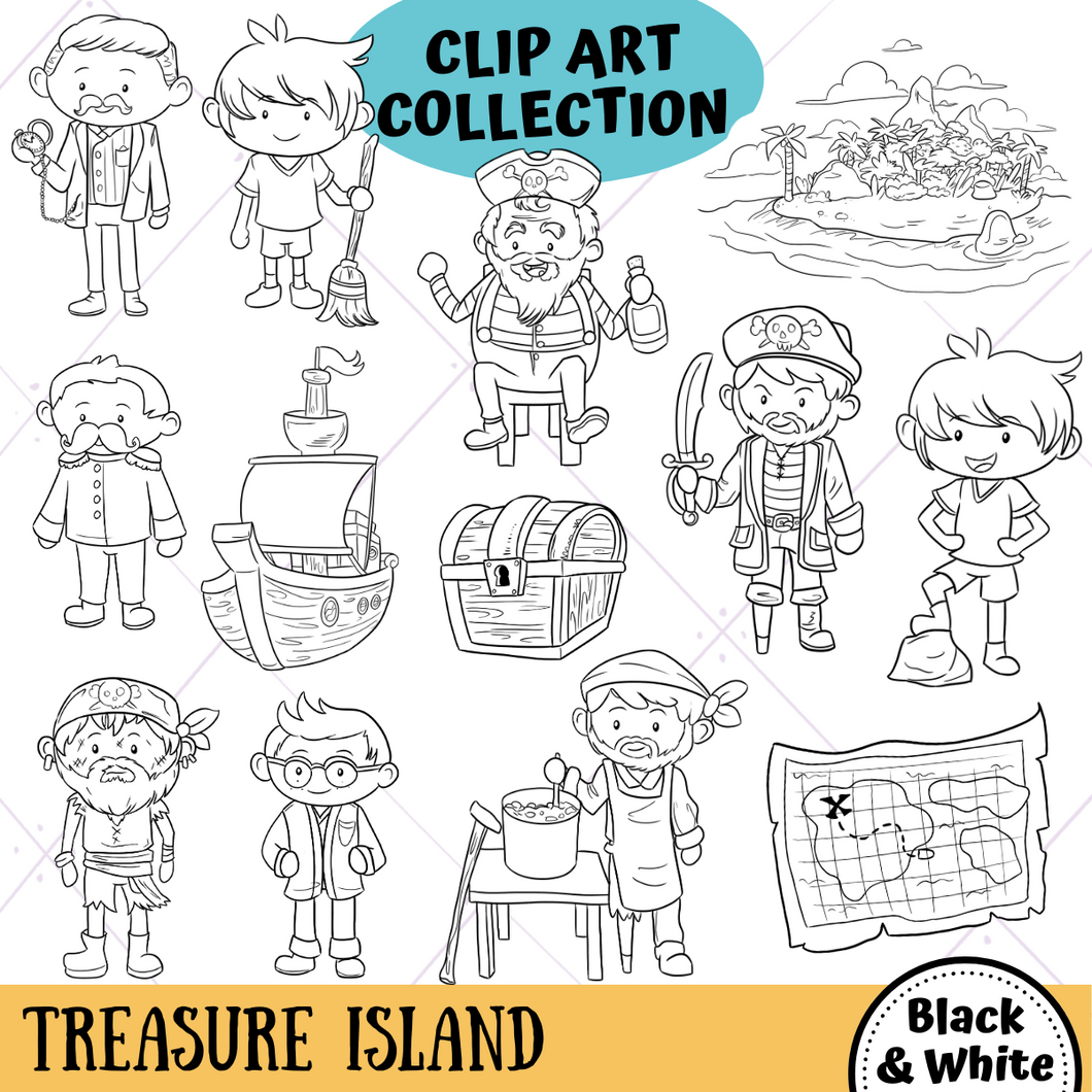 Treasure Island Digital Stamps
