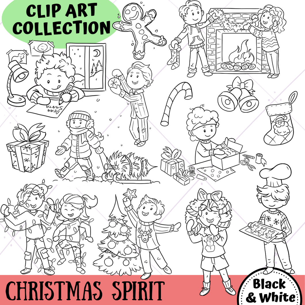 Christmas Spirit Digital Stamps
