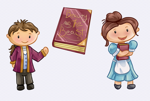 Beauty and the Beast Clip Art Collection