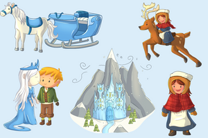 Snow Queen Clip Art Collection