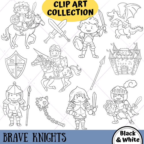 Brave Knights Digital Stamps