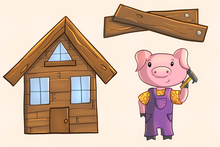 Load image into Gallery viewer, Three Little Pigs Clip Art Collection