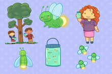 Load image into Gallery viewer, Catching Fireflies Clip Art Collection