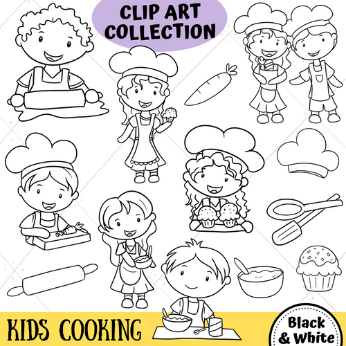 Cooking Digital Stamps