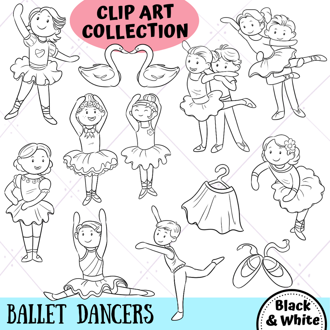 Ballet Dancers Digital Stamps