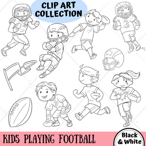 Playing Football Digital Stamps