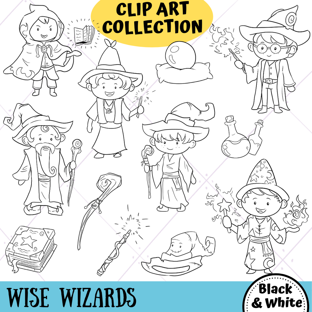 Wise Wizards Digital Stamps