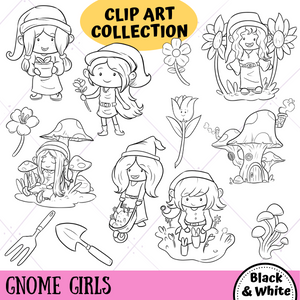 Gnome Girls Digital Stamps
