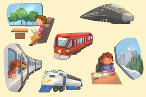Train Travel Clip Art Collection