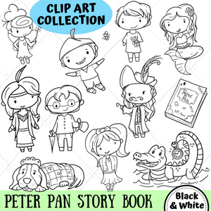 Peter Pan Digital Stamps
