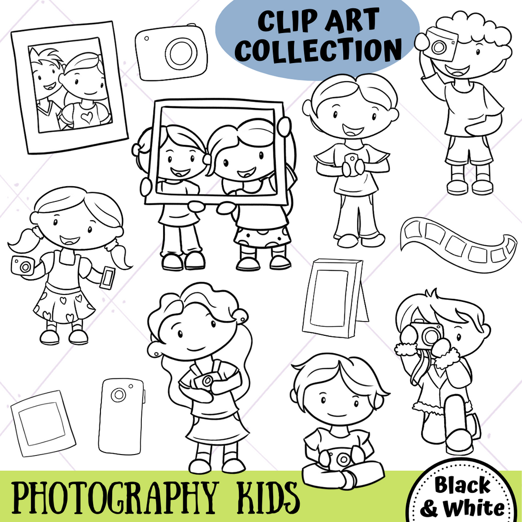 Photography Digital Stamps