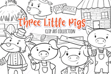 Load image into Gallery viewer, Three Little Pigs Digital Stamps