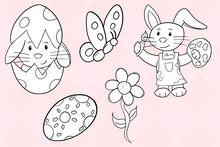 Load image into Gallery viewer, Easter Bunny Digital Stamps