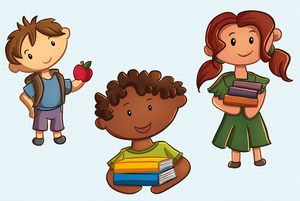 School Kids Clip Art Collection