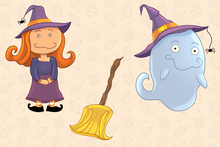 Load image into Gallery viewer, Witches and Ghosts Clip Art Collection