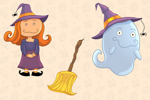 Witches and Ghosts Clip Art Collection