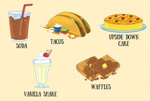 A to Z Fun Food Clip Art Collection