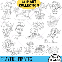 Load image into Gallery viewer, Playful Pirates Digital Stamps