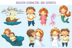 Little Mermaid Clip Art Collection