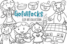Load image into Gallery viewer, Goldilocks Digital Stamps