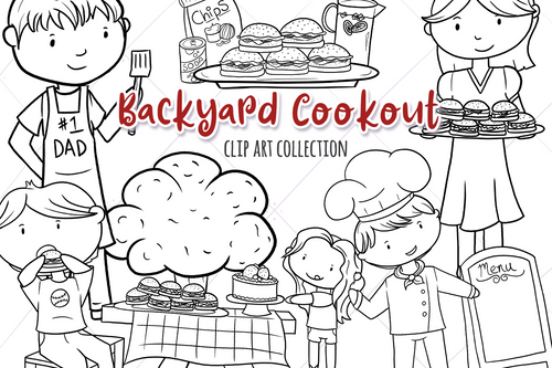 Backyard Cookout Digital Stamps