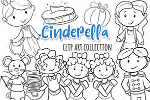 Cinderella Digital Stamps
