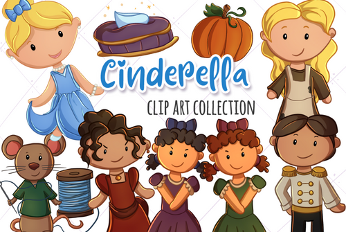 Cinderella Clip Art Collection