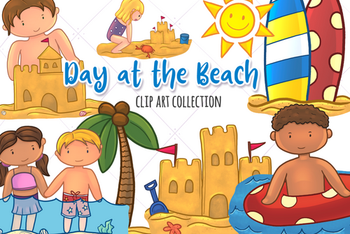 Beach Trip Clip Art Collection