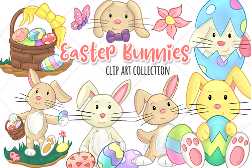 Easter Bunny Clip Art Collection