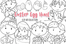 Load image into Gallery viewer, Easter Egg Hunt Digital Stamps