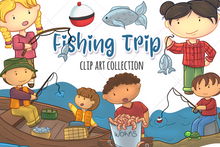 Load image into Gallery viewer, Fishing Clip Art Collection